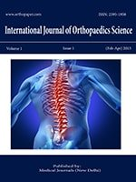 International Journal of Orthopaedics Sciences